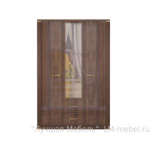 Шкаф Париж трехстворчатый для одежды с ящиками и зеркалом 1