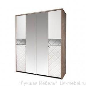 Шкаф четырехдверный для одежды 4Д Кристал 0650.8