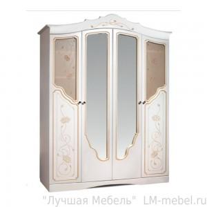 Шкаф четырехдверный для одежды 4Д Мелани 1 0434.1-01