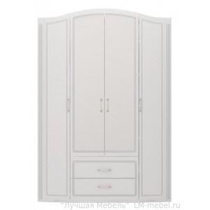 Шкаф четырехдверный для одежды Виктория с ящиками без зеркал 02