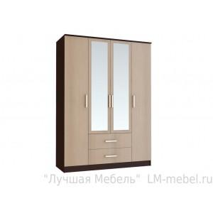 Шкаф четырехдверный Фиеста (Венге/Лоредо)