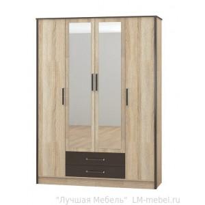 Шкаф четырехдверный Лирика