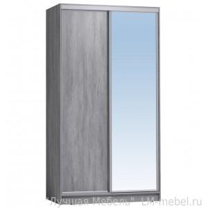 Шкаф-купе Домашний 1200 с зеркалом Глазов-Мебель (Ателье светлый)
