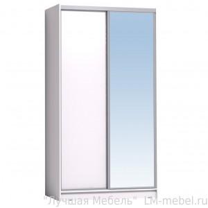 Шкаф-купе Домашний 1200 с зеркалом Глазов-Мебель (Белый)