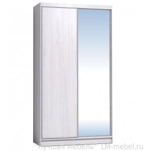 Шкаф-купе Домашний 1200 с зеркалом Глазов-Мебель (Ясень анкор светлый)