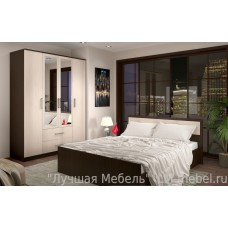 Спальня Фиеста (Венге/Лоредо) компоновка 1
