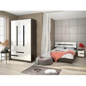 Спальня Гавана (Венге/Акрил белый) компоновка 1