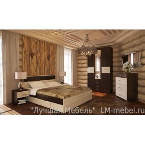 Спальня Стиль ТД Шагус (Сосна Карелия/Венге Магия)