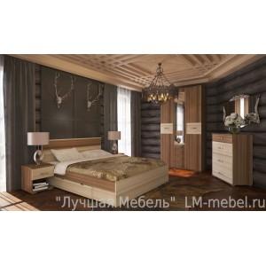 Спальня Стиль ТД Шагус (Ясень шимо светлый/темный)